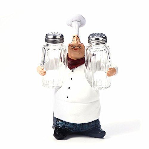 DGTRHTED Chef Figuren - niedliche Chef Statue Figur Ornamente Vintage Home Decor Küche Restaurant Harz Handwerk