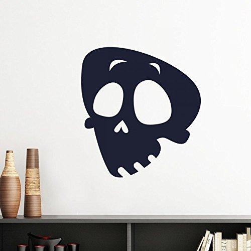 DIYthinker Hilflos Emoji Halloween-Schädel-Silhouette-Wand-Aufkleber-Kunst-Abziehbilder Wand-DIY Tapete Für Zimmer Aufkleber Removable 30Cm Hell Gruen (Silhouetten Schädel Halloween)