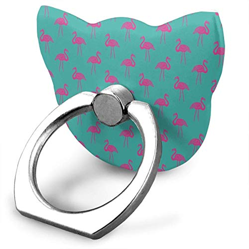Nicegift Tropical Summer Preppy Flamingo Mobile Phone Holder Shape Metal Finger Ring Stand Holder Phone Bracket