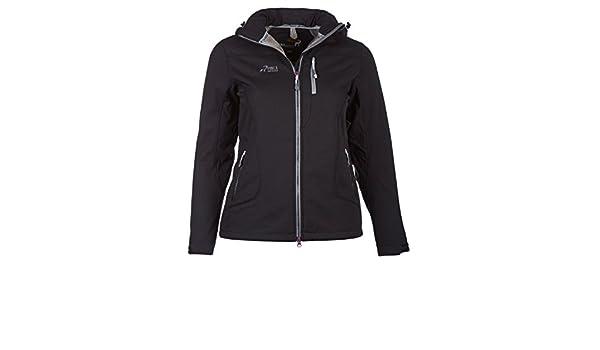 PINEA Damen Winter Softshell Jacke ROOSA Farbe SCHWARZ in