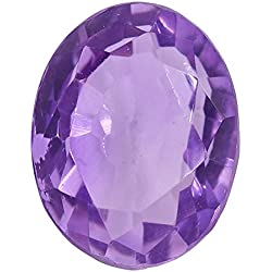 Gemorio Natural Amethyst Katela 6.25 to 6.5 RATTI Certified Astrological Loose Gemstone As Shown in Image