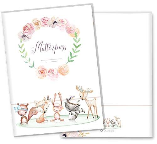 Mutterpasshülle 3-teilig Cute Boho Freunde schöne Geschenkidee Schutzhülle (Mutterpass ohne Personalisierung, Freunde)