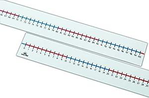 Learn Well T721 - Líneas para números de Mesa (0 a 100, 100 Espacios, 5 Unidades)