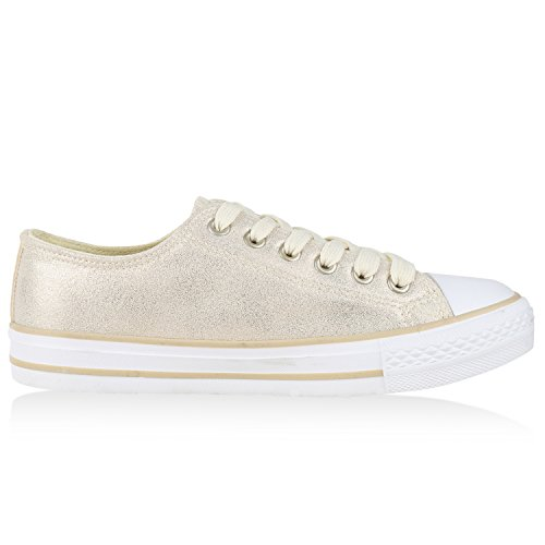 Japado - Low Sneakers Mujer Blanco Crema