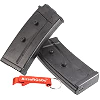 MAG Box of 2 Pieces Pack 100rd Cargador para SIG551 SIG552 Serie Airsoft AEG - AirsoftGoGo Llavero Incluido