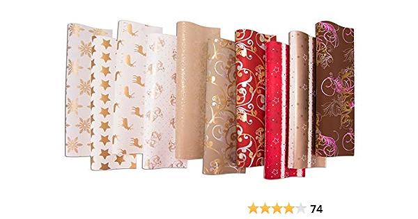 10 Rollen Geschenkpapier Geburtstag Weihnachtspapier Geschenk Papier 4m x 0,70 m
