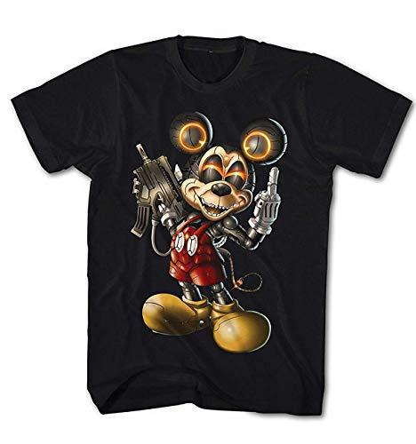 Herren T-Shirt Killer Maus Mick Cyber Cartoon
