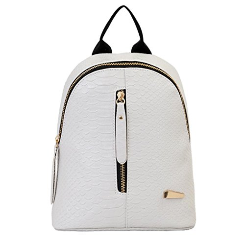 LILICAT Damen Vintage Leder Rucksack Schultasche Daypacks Für Outdoor Sports Travel Shoulder Bag (Grau) (X-stil-crossover)