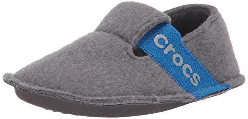 crocs Unisex-Kinder Classic Slipper Kids Hohe Hausschuhe, Grau (Charcoal 025), 20/21 EU