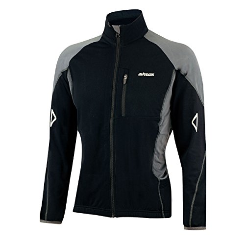 AIRTRACKS WINTER FAHRRADTRIKOT LANGARM PRO T / THERMO RADTRIKOT / FLEECE JACKE / ATMUNGSAKTIV / FULL ZIP
