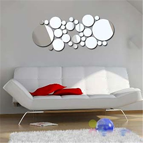 mmrm Moderne DIY 3D Spiegel rund Decor Wall Sticker Selbstklebend Art Decor