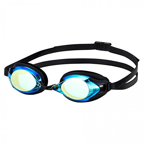 SWANS verspiegelte Schwimmbrille SR-2M, Farbe:skyblue and flash yellow (SBFY)