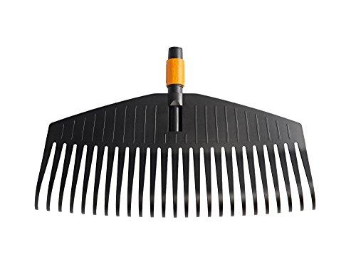 Fiskars Laubbesen, Werkzeugkopf, 25 Zinken, Breite 50 cm, Kunststoff-Zinken, Schwarz/Orange, QuikFit, 1000642