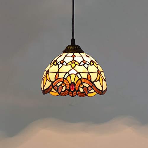AYEN Lampadari Lampada da soffitto in Stile Europeo retrò Tiffany con Paralume in Vetro da 8 Pollici in Stile Barocco Soffitto Lampadario