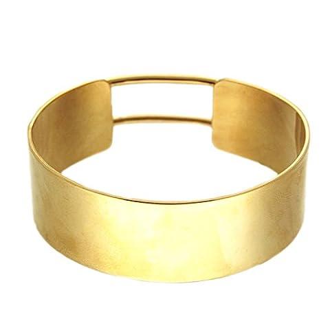 sweet deluxe 6293 Amrreif Armspange Sato in gold, Damen-Armband-Armreif in für jeden Anlass, Hochzeit, Geburtstag, Abiball, Geschenkidee, Geburtstagsgeschenk für Frauen