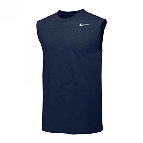 NIKE Mens Legend Dri Fit Sleeveless T Shirt (Large, Navy) (Tee Dri-fit-sleeveless)