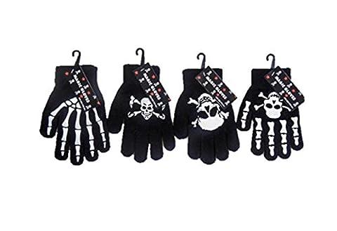Childrens/Boys/Girls/Kids Magic Gloves Skulls Bones Skeleton - 4 Pack