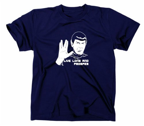 Maglietta Mr Spock, Star Trek # 2, Tee Navy X-Large