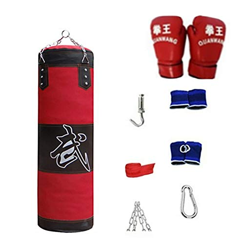 Boxsack-Set, leere Sandsack-Boxsack-Set Druckentlastung Boxsack Wraps Training Übung, Fitnessgeräte wasserdichte Taschen für Indoor Outdoor Fitness Training Kit(0.8m)