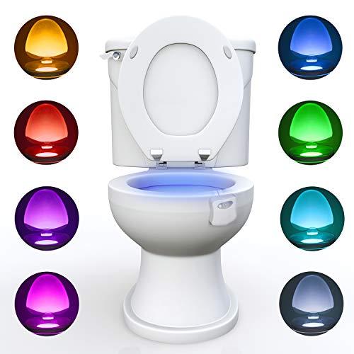 WC luz nocturna, Adoric LED Luz de Inodoro Luz con Detección de movimiento del sensor automático...
