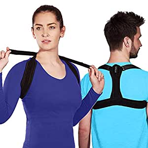 Fitkiit Back Posture Corrector for Women & Men - Effective and Comfortable Posture Brace for Slouching & Hunching - Discreet Design - Clavicle Support for Medical Problems & Injury Rehab / Injury Prevention - Posture Trainer