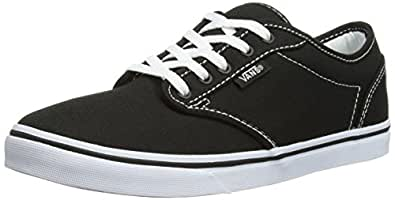 Vans Atwood Low Black White Womens Canvas Trainers Shoes-8