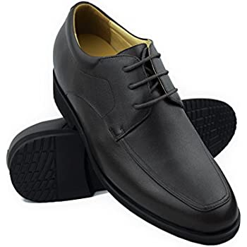 Height increasing elevator shoes for men.Add +24 inches to your height. Quality 100% leather shoes. Made in Spain(Black 40 EU/US 8 )