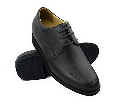 Zerimar Elevator Shoes for Men Add +2.7 in | Men's Height Increasing Shoes | Shoes That Increase Your Height | Size: 7 UK – 40 EU | Colour: Brown