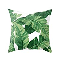 Home Decoration Amaae® Tropical plant polyester pillowcase sofa throwing pad set home decoration(Color:Multicolor B, Material:Polyester) Creative Gifts For Kid Child Home Living room,Home