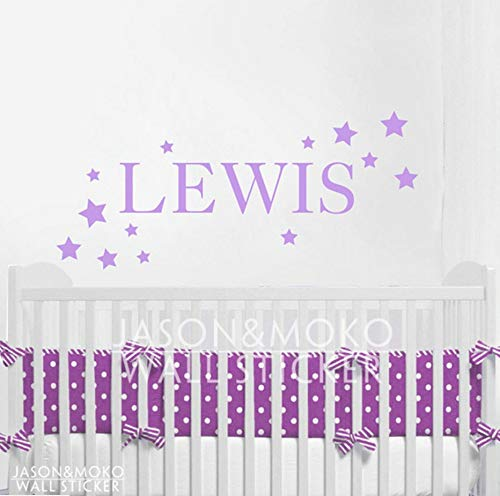 Custom Home Office Schreibtische (Custom Name Tiny Star Wall Stickers Decal For Kids Girls Baby Room Wallpaper Home Decoration 26X60Cm)