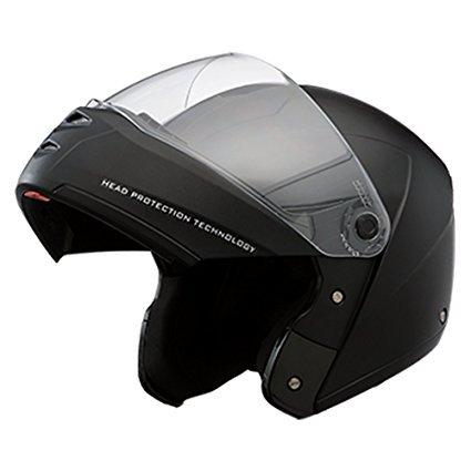 Studds Ninja Elite Flip Up Trendy Helmet for Men and Women (XL - 59 - 60 Cms,Black, Mirror Visor)