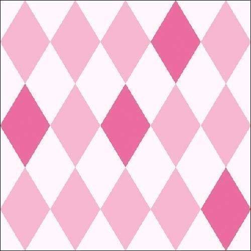 Harlequin Diamant Rose 3 Épaisseurs 20 Papier Serviettes 13\