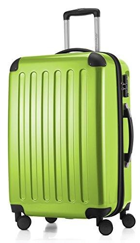 HAUPTSTADTKOFFER - Alex -  4 Doppel-Rollen Hartschalen-Koffer Koffer Trolley Rollkoffer Reisekoffer, TSA, 65 cm, 74 Liter, Apfelgrün
