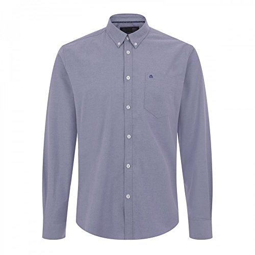 Merc London Oval Oxford Shirt in Blue blue