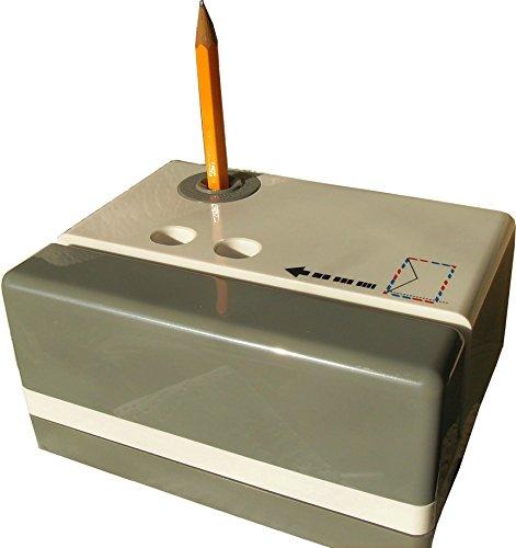 Artline EVIT W1000 Brieföffner und Bleistift Spitzer elektrisch grau und weiß kombiniert