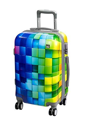 t leicht und langleib Hard shell Koffer mit 8 spiner räder tasche mehrfarben würfel 55x35x20 cm. ... ()