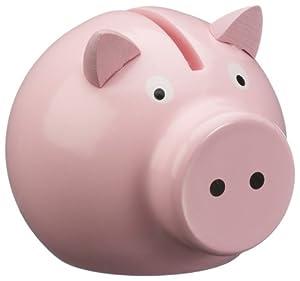 Vilac - Juguetes de Madera - Piggy Bank Viejos - Rosa