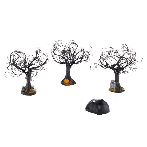 Department 56 4025410 Halloween Accessories for Dept 56 Village Collections Haunted Sounds Lit Trees, 6-1/2-Inch by Department 56
