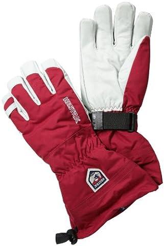 Hestra Army Leather Heli Ski Gloves, Red, 9
