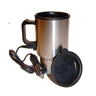 Thermo-Becher für KfZ, mit KFZ-Ladekabel für Zigarettenanzünder, Thermobecher, Trinkbecher, Isolierbecher (01)
