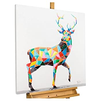 KunstLoft® Acryl Gemälde \'Noble Kingship\' 80x80cm   original ...