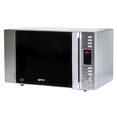Igenix IG3091 30 Litre Family Size Digital Combination Microwave - Stainless Steel