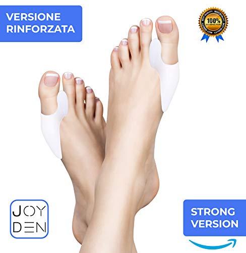 Tutore alluce valgo - protezione uomo donna, separatore e correttore - 100% gel silicone medico ultra soft - prevenzione dolori borsite, distanziatore raddrizza dita piedi a martello ortopedico