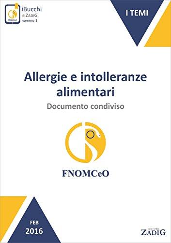 allergie e intolleranze alimentari: documento condiviso
