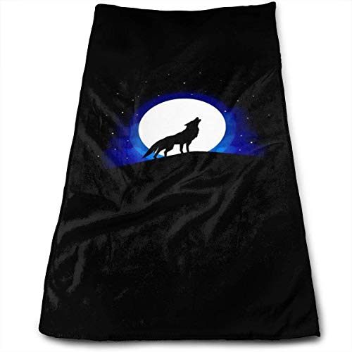 Zengyan Howling Wolf Super Soft Polyester Absorbent Face Towel Beauty Towels Cloth Towel Rag 30X70CM