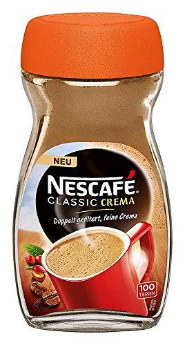 NESCAFÉ Classic Crema löslicher Bohnenkaffee (mit feinen Kaffeebohnen, cremiger Instant-Kaffee) 3er Pack (3 x 200g)