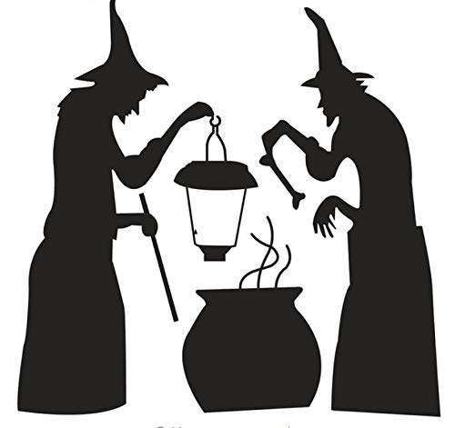 rzimmer Dekoration Für Halloween Hexe Kochen Decor Wandaufkleber Diy Abnehmbare Vinyl Wandaufkleber ()