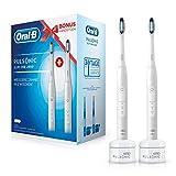 Oral-B Pulsonic Slim One 2900 Elektrische Schallzahnbürste mit 2. Handstück, Für weißere Zähne in 2 Wochen, weiß