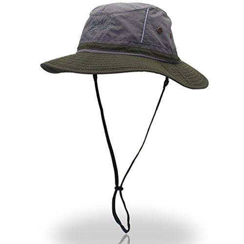 Outfly Outfly Unisex Reflektierende Angeln Bucket Mütze UV50+ mit breiter Krempe Gr. One Size, Army Green Brim