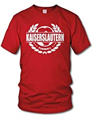 shirtloge - KAISERSLAUTERN - Fussball Lorbeerkranz - Fan T-Shirt - Größe S - 3XL